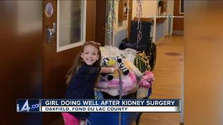 Wisconsin girl thriving after kidney transplant from teacher - Video