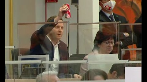 Austrian MP Shows Even A Can Of Coke Tests Positive On Covid Test