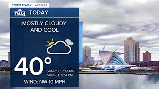 Cooler weather to stick around Monday night into Tuesday