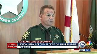 Marjory Stoneman Douglas school resource officer never confronted Parkland gunman, sheriff says