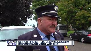 Detroit firefighters union claims new response system not working