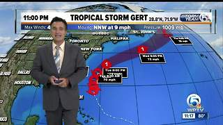 11pm Sunday Tropical update - Video