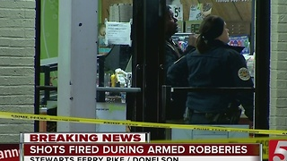Clerk Shot During Donelson Store Robbery - Video