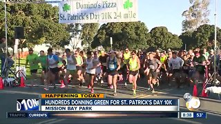 Hundreds donning green for St. Patrick's Day 10K