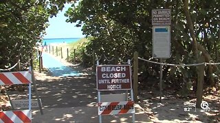 Beaches closed in Delray Beach