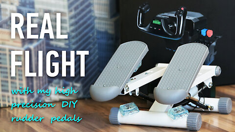 DIY Strong and Precision Rudder Pedals