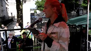 EastEnders actress Maddy Hill speaks at nurses rally - Video