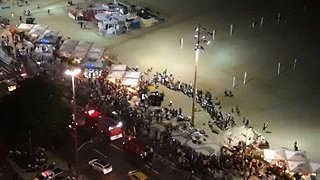 Car Ploughs into Crowd on Rio de Janeiro's Copacabana Beach - Video