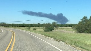 Oilfield Explosion Sends up Plume of Black Smoke Visible for Miles - Video