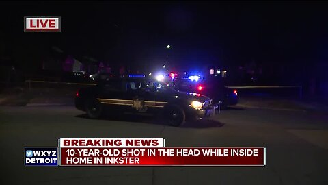 10-year-old shot in the head while inside home in Inkster
