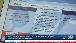 New ransomware locks your computer screen