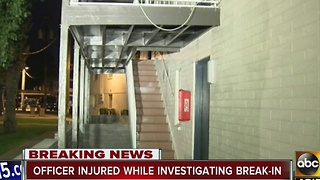 Man tased after injuring officer at a Phoenix apartment complex overnight - Video