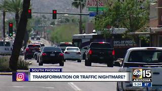 South Phoenix business owners upset over light rail extension - Video