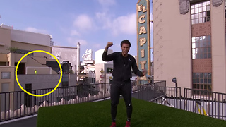 Neymar Scores Crazy 150-Foot Roof-to-Roof Goal Across Hollywood Boulevard! - Video