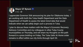 Mayor Bynum to Present Tulsa's Plan for Reopening Businesses on Friday