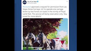 Las Vegas Horse Carriage LLC gets permission to work in Floyd Lamb Park