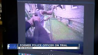 Ex-officer's dash cam played in court - Video