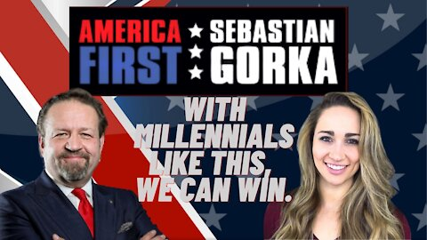 With Millennials like this, we can win. Alyssa Ahlgren with Sebastian Gorka on AMERICA First