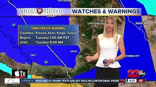 Freezing conditions overnight with a warm up later in the week - Video