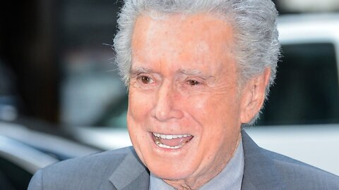 Regis Philbin exits, stage right, at 88