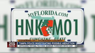 Tampa Police investigating possible abduction - Video