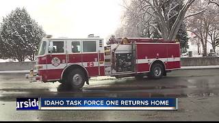Task Force One Firefighters return from California