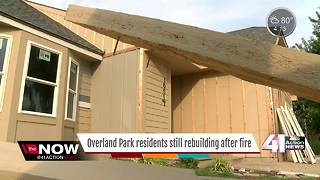 Overland Park residents still rebuilding after fire - Video