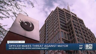 Officer makes threat against Phoenix mayor