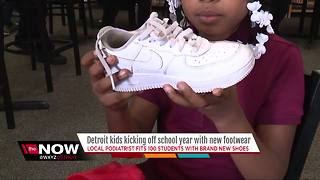 Detroit kids kicking off school with new shoes - Video