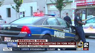 Portion of York Road shut down due to shooting investigation - Video