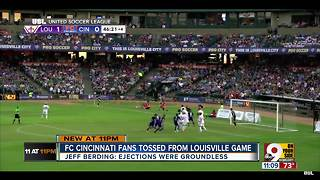 "Jeff Berding calls fans' ejection from FC Cincinnati game ""groundless"""