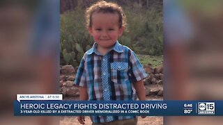 Heroic legacy fights distracted driving