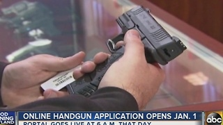 Online handgun application opens January 1 - Video