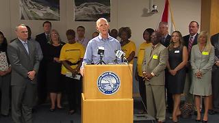 Governor celebrates budget victory in West Palm - Video