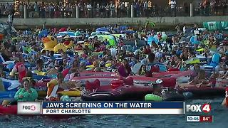Thousands watch 'Jaws' from Charlotte Harbor - Video