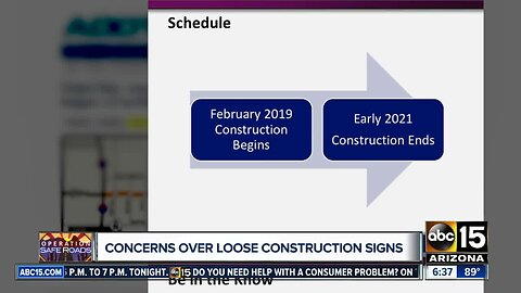 Concerns over loose construction signs in the Valley