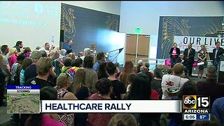 Leaders gather for health care rally in Phoenix - Video