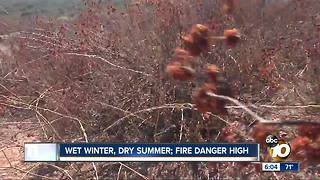 Fire danger high - Video
