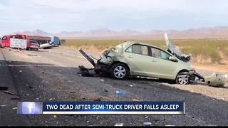 Two Idaho men dead after semi-truck crash in Las Vegas
