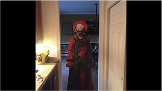 Dad pranks son with evil clown encounter - Video