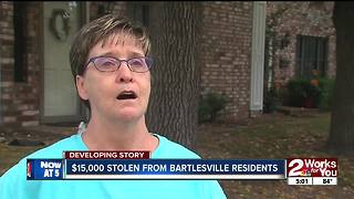 Thousands of dollars stolen from Bartlesville residents