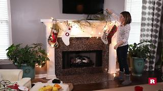Elissa the mom's Christmas mantle makeover | Rare Life - Video