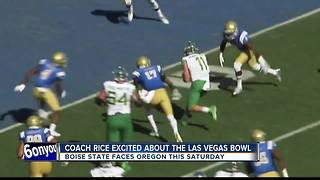 Coach Rice excited for Las Vegas Bowl - Video