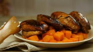 Sriracha-Glazed Chicken with Paprika Butternut Squash - Video