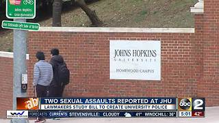 Lawmakers to consider new police department for JHU - Video