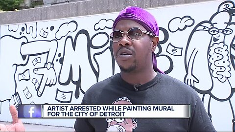 Detroit police arrest graffiti artist Sheefy McFly, who was hired by city
