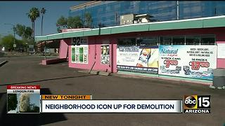Historic pink liquor store set for demolition - Video