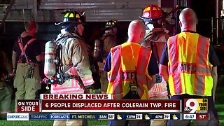 House fire in Colerain Township displaces 6 people