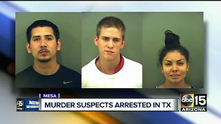 Mesa murder suspects arrested in Texas - Video