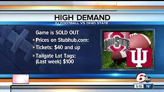 IU v Ohio State game starts with tailgating - Video